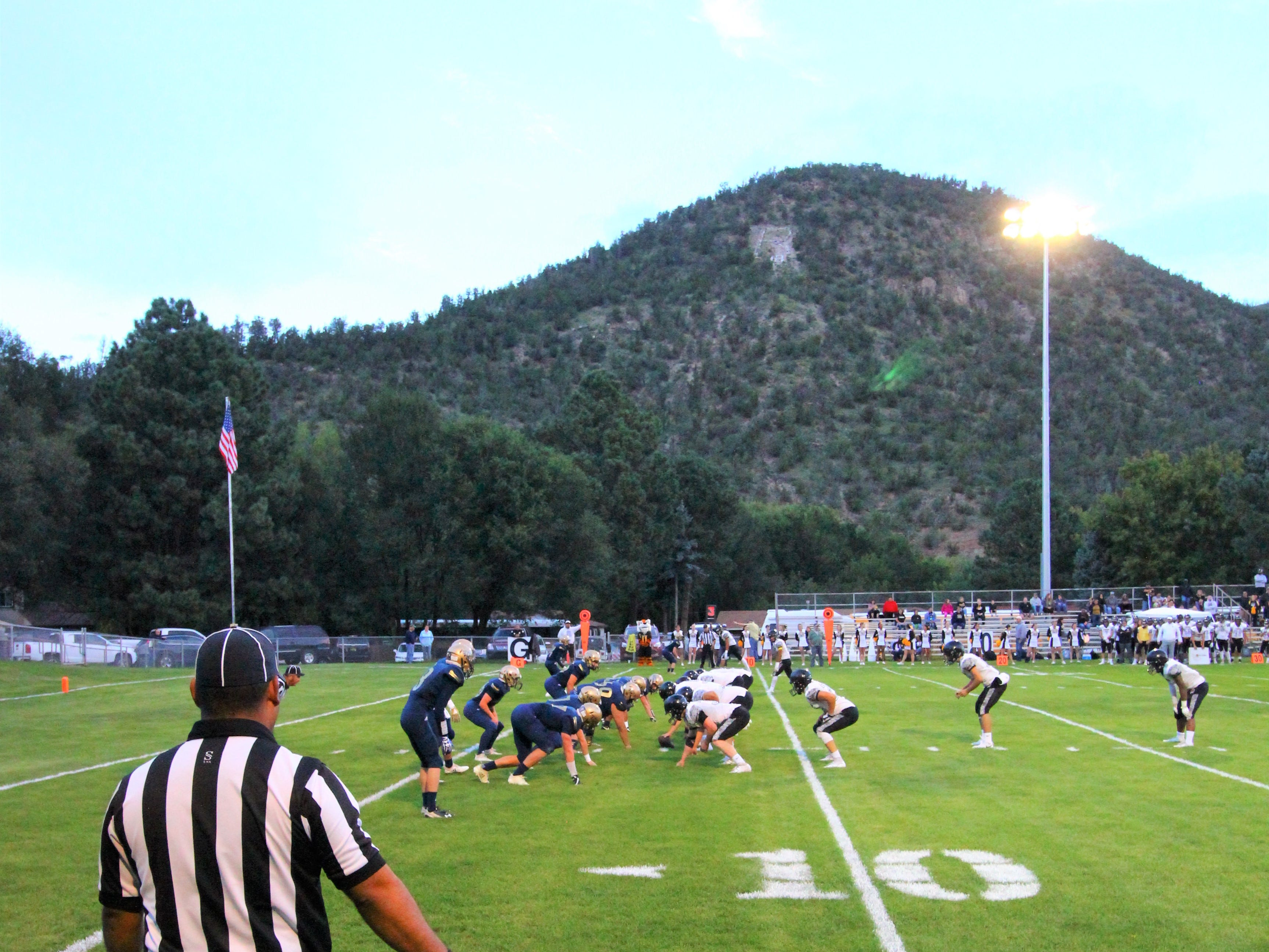 Kick off for the Warriors v Tigers at Ruidoso Sept. 7 2018