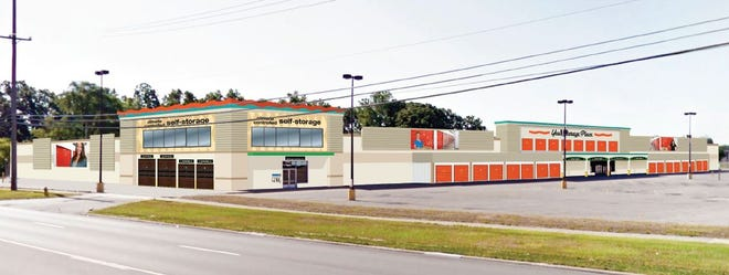 A rendering of the new U-Haul center on the site of the former Kmart at Wayne Road and Cherry Hill in Westland.
