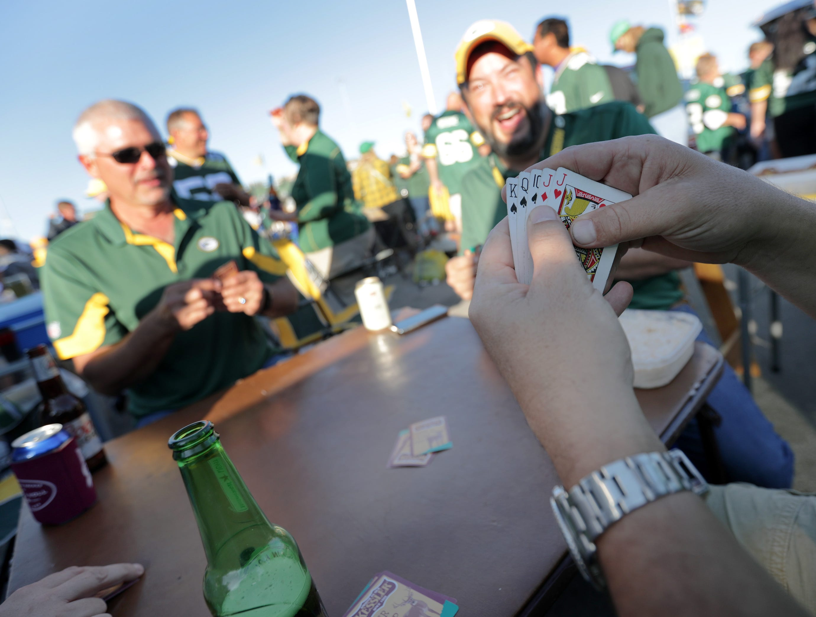 The Green Bay Packers against the Chicago Bears in the season opener on Sunday, September 9, 2018, at Lambeau Field in Green Bay, Wis.