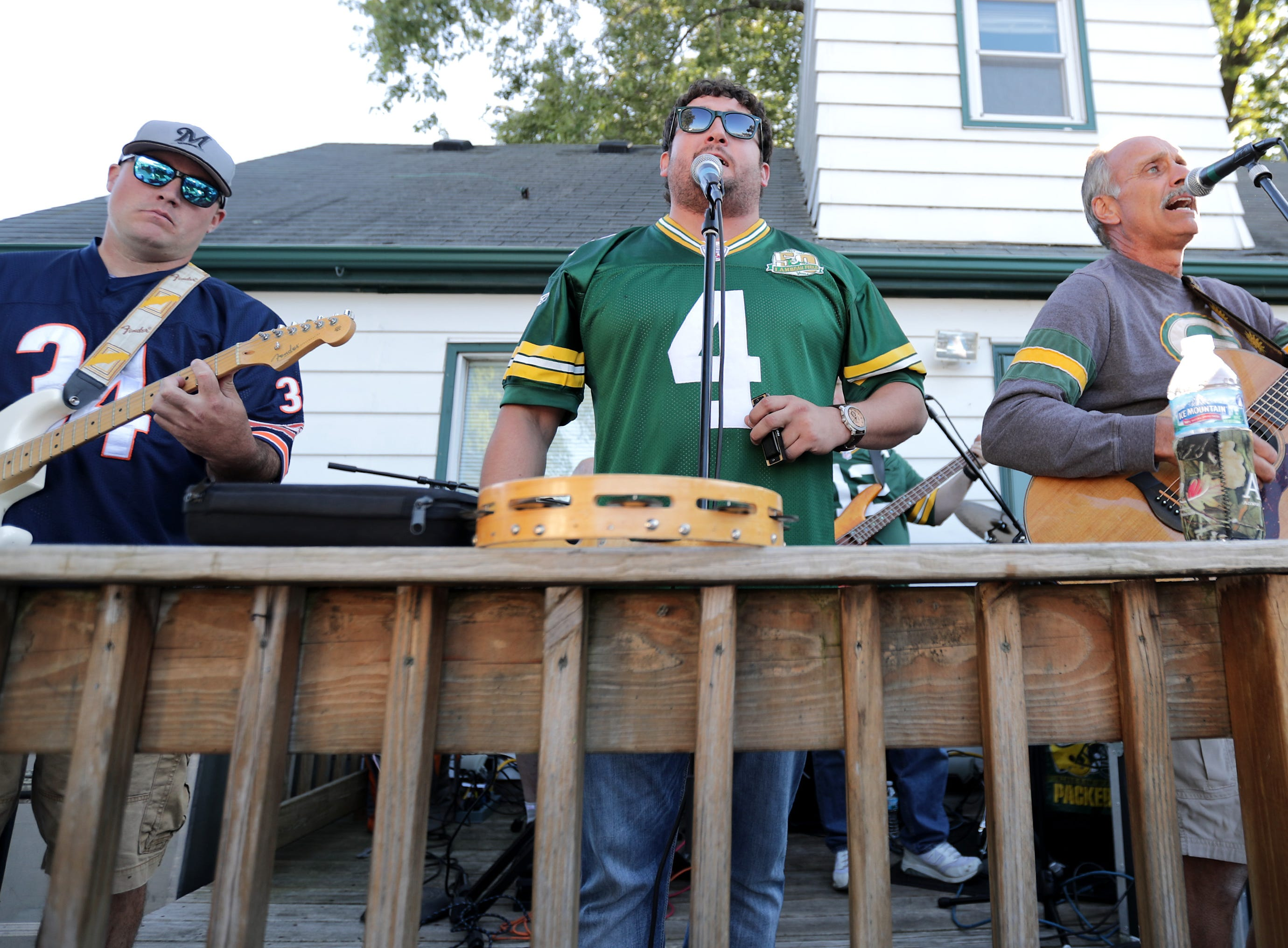 The Lowest Bidders play a pregame show before the Green Bay Packers host the Chicago Bears in the season opener on Sunday, September 9, 2018, at Lambeau Field in Green Bay, Wis.
