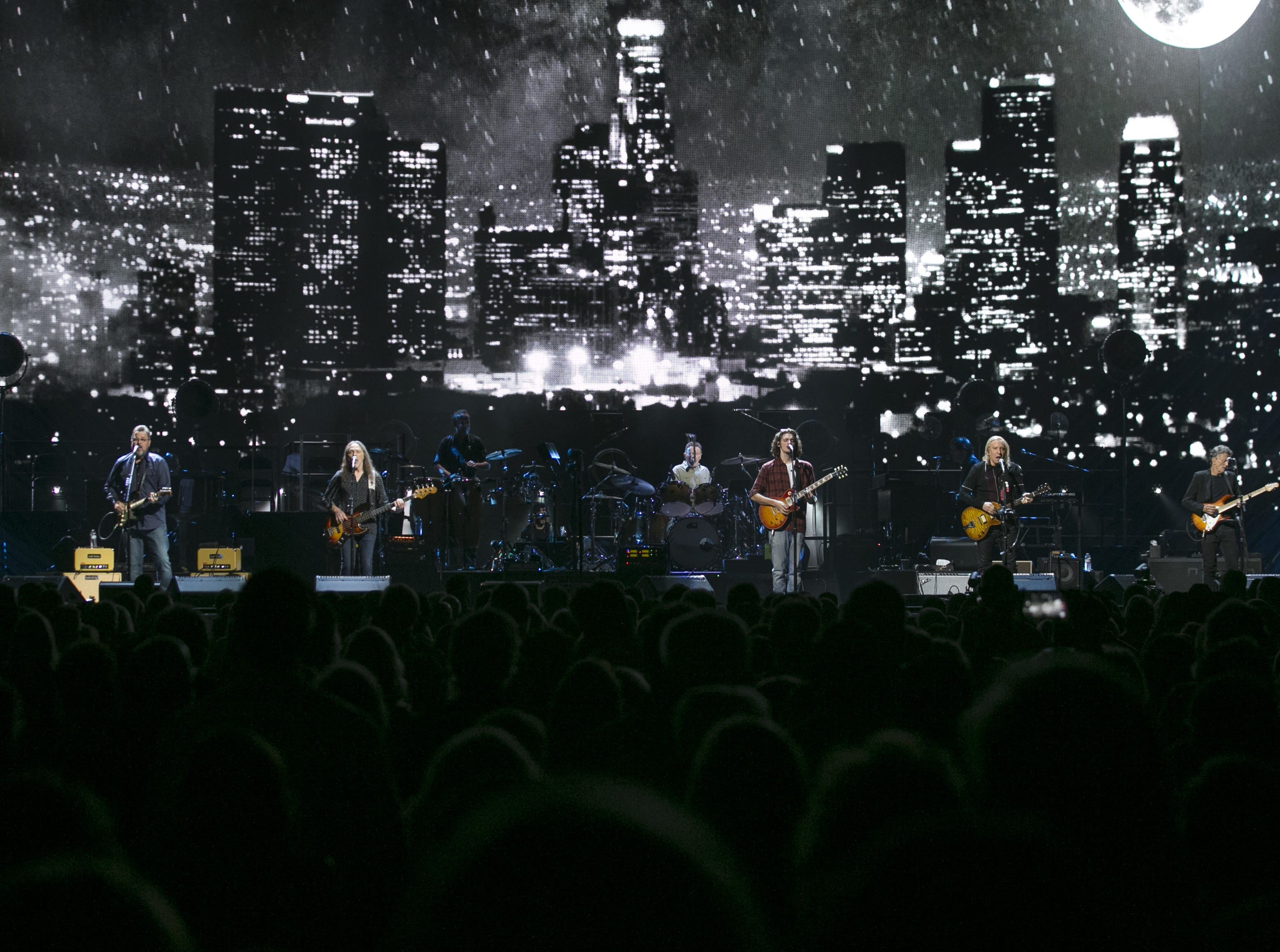 The Eagles perform at Talking Stick Resort Arena in Phoenix on Sat. Sep. 8, 2018.