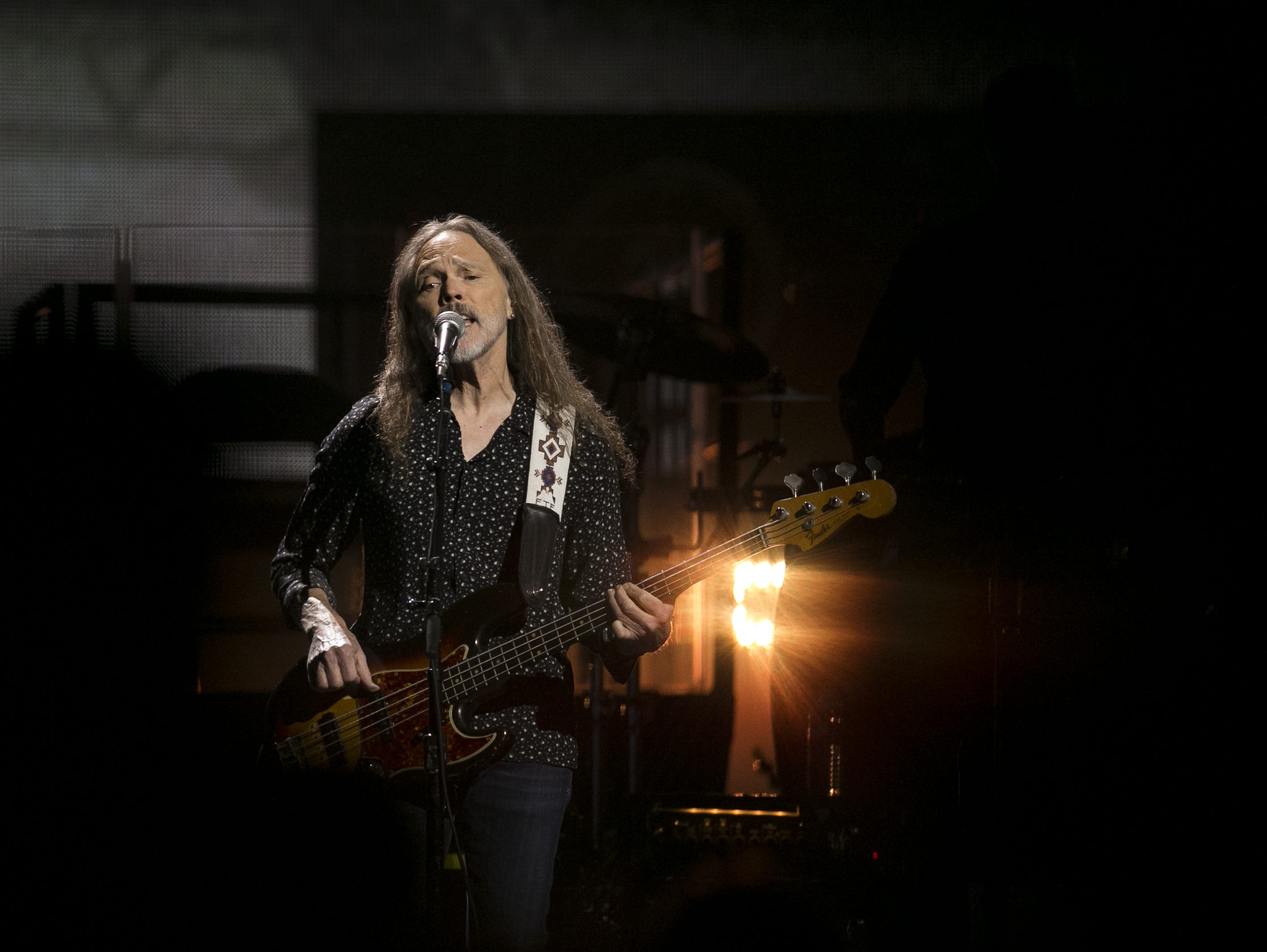 Timothy B. Schmit performs with the Eagles at Talking Stick Resort Arena in Phoenix on Sat. Sep. 8, 2018.