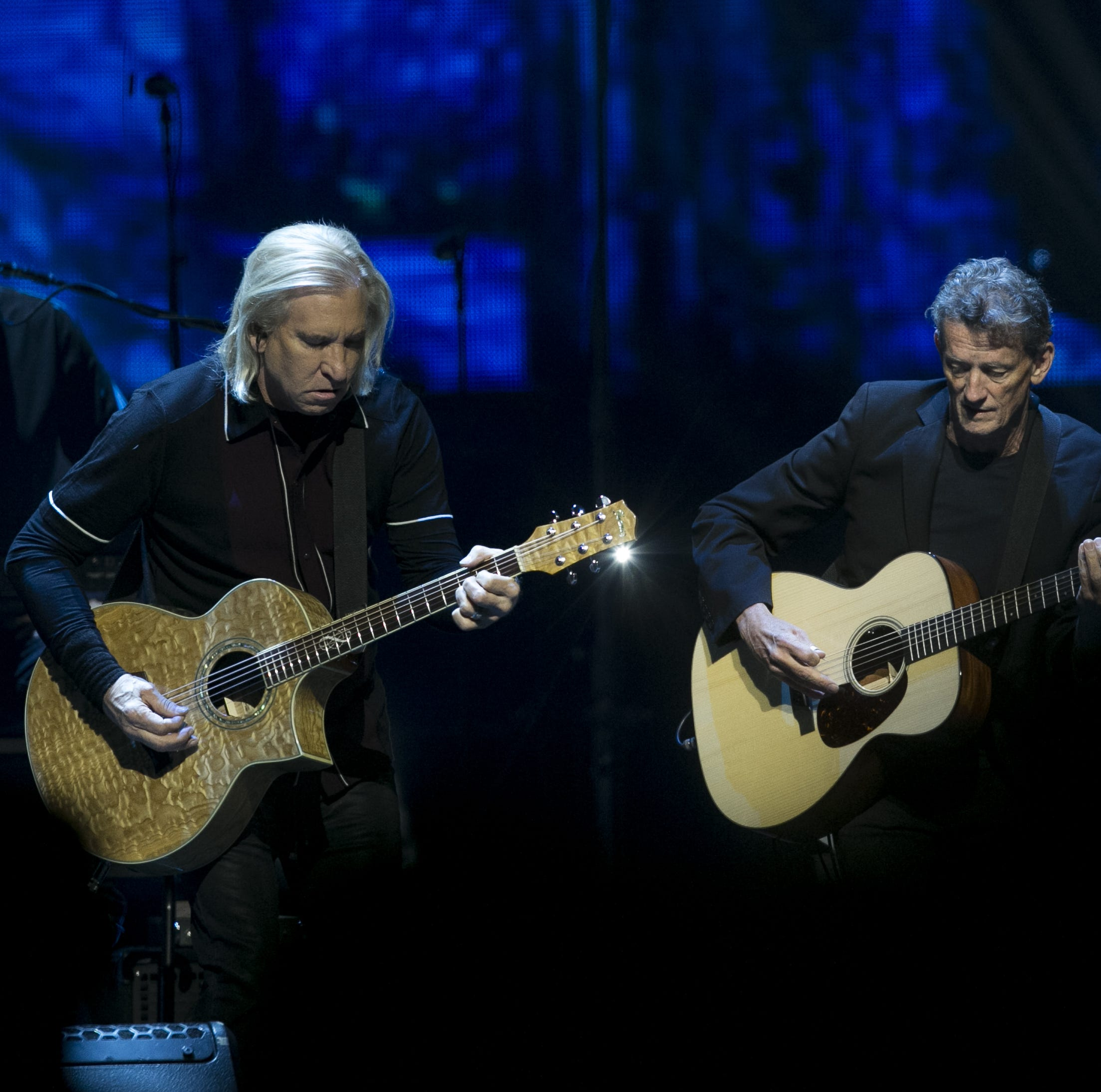 The Eagles honor Glenn Frey's memory in a hit-filled set while welcoming new members