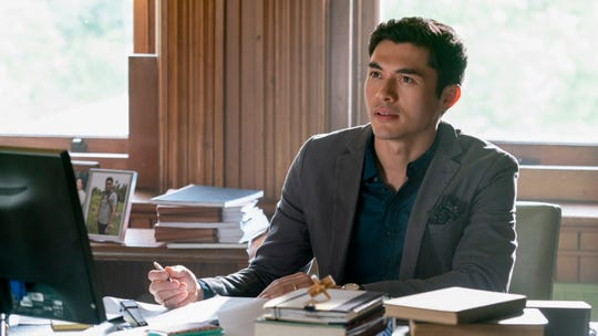 "Sean (Henry Golding) is a worried husband in ""A Simple Favor."""