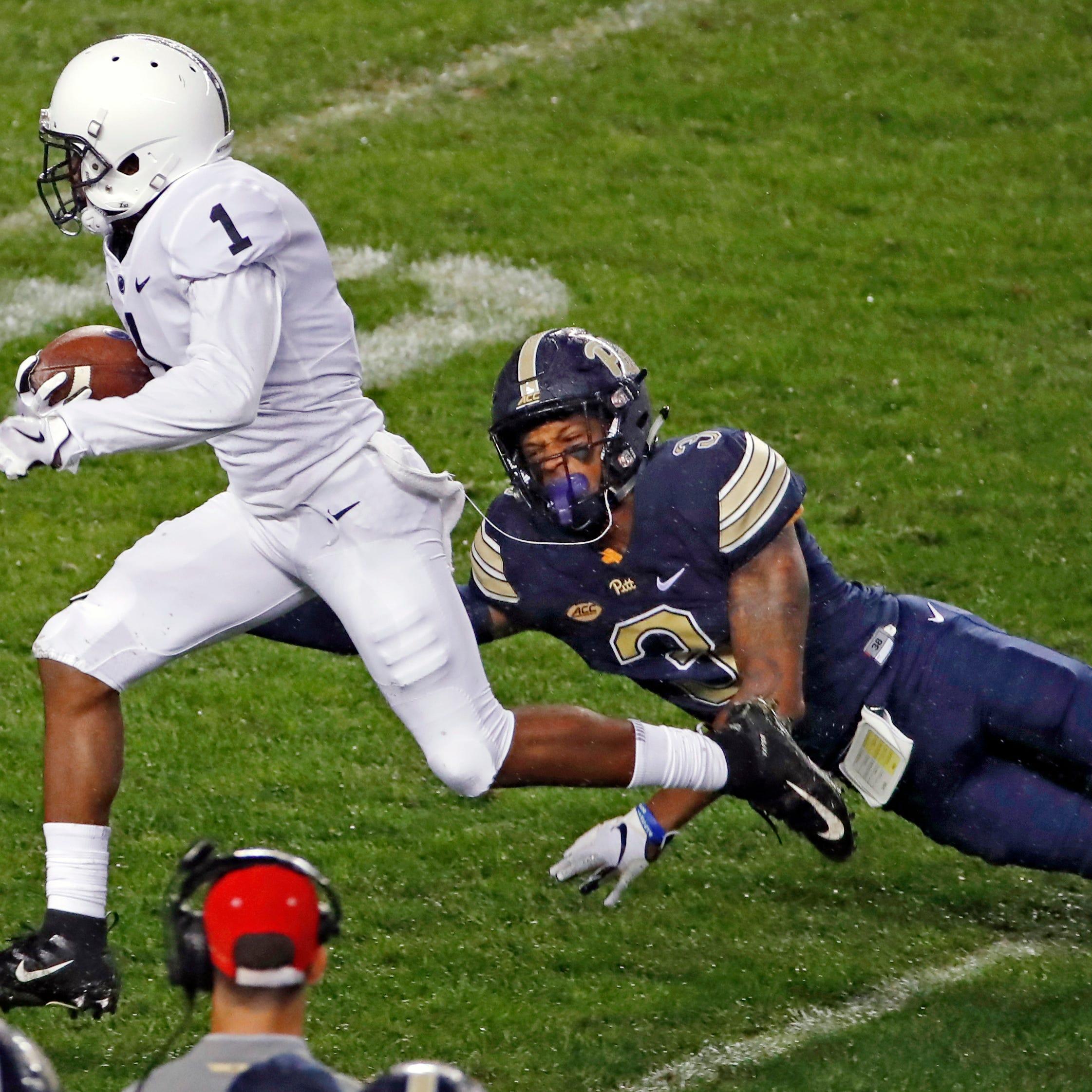 KJ Hamler ignites the night as Penn State pounds Pitt in the rain
