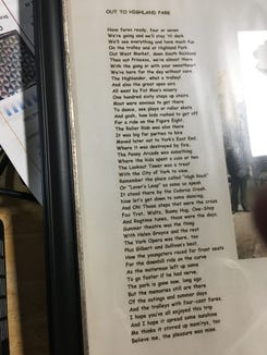 The poem, as read by Mary Baum at a recent presentation on York County's Trolley System in Manchester.