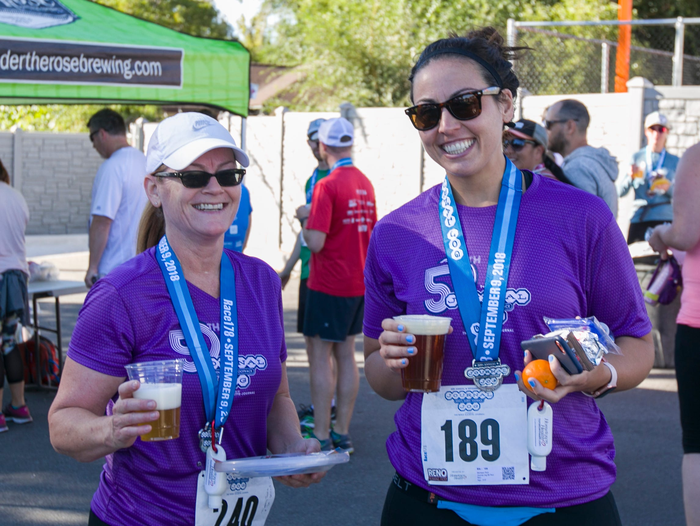 Tamie and Michawn during the 50th Annual Journal Jog in Reno, Nevada on Sunday, September 9, 2018.