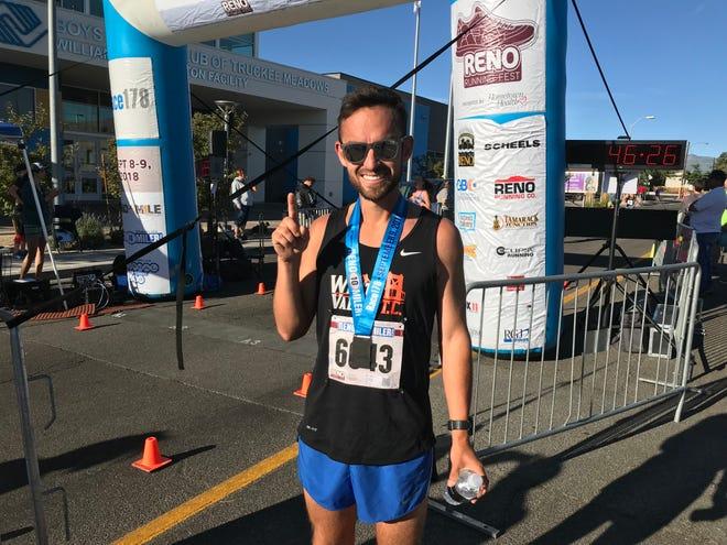 Lupe Cabada won the Reno 10-Miler on  Sunday morning in Southwest Reno.
