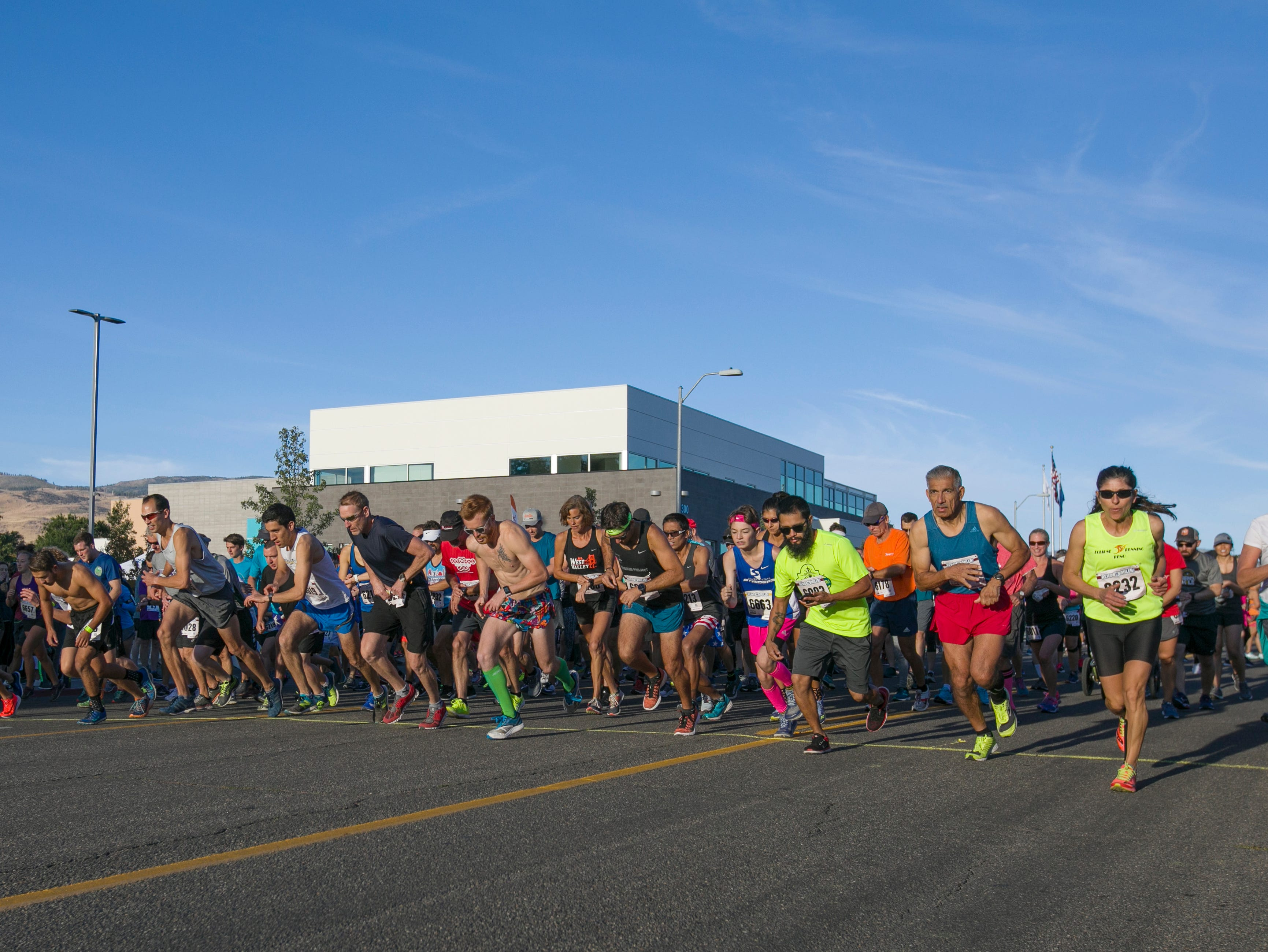A photograph taken during the 50th Annual Journal Jog in Reno, Nevada on Sunday, September 9, 2018.