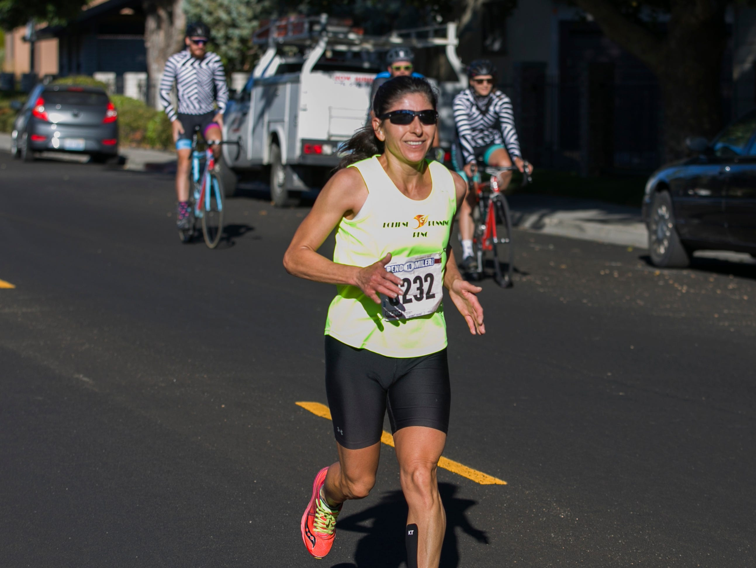 Ramona Sanchez won the women's division of the Reno 10 Mile race as part of the 50th Annual Journal Jog in Reno, Nevada on Sunday, September 9, 2018.