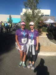 Shelly Capurro and Devin Borden at the Journal Jog on Sunday morning in Southwest Reno.