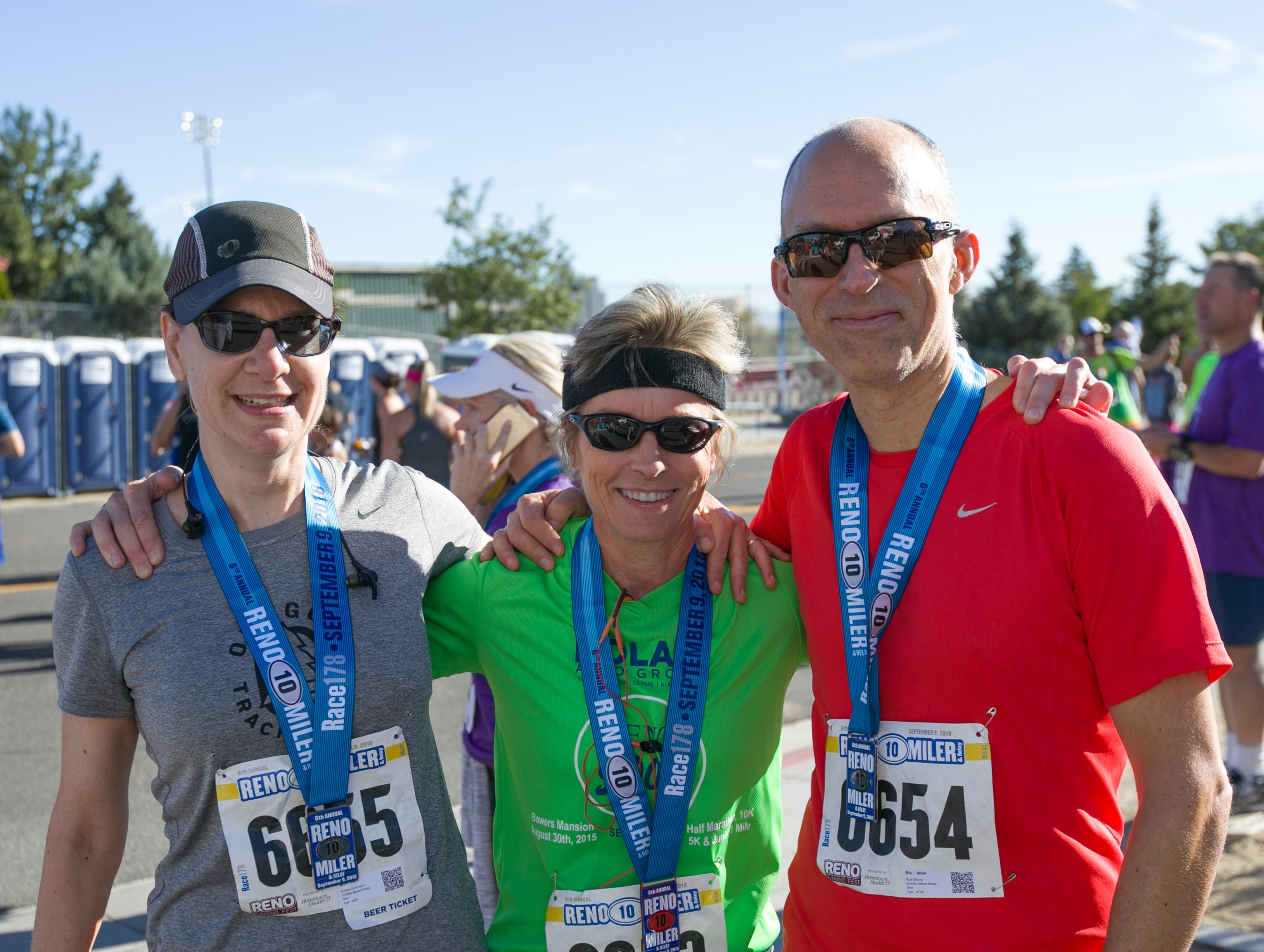 Emma, Lynni and Richard during the 50th Annual Journal Jog in Reno, Nevada on Sunday, September 9, 2018.