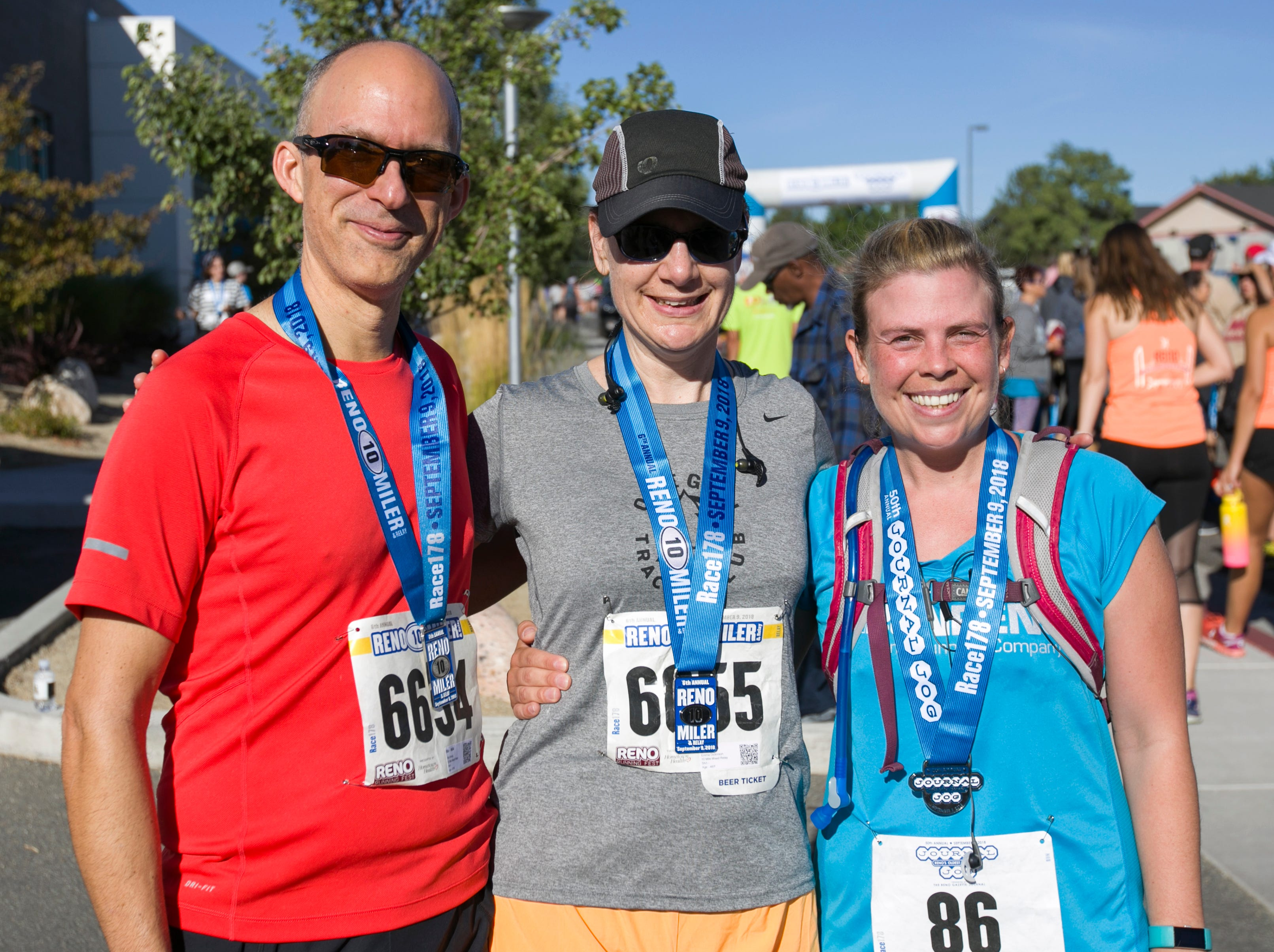Richard, Emma and Sunet during the 50th Annual Journal Jog in Reno, Nevada on Sunday, September 9, 2018.