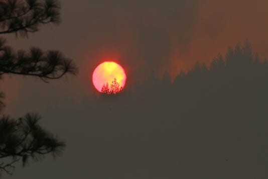 Delta Fire next to I-5 north of Redding