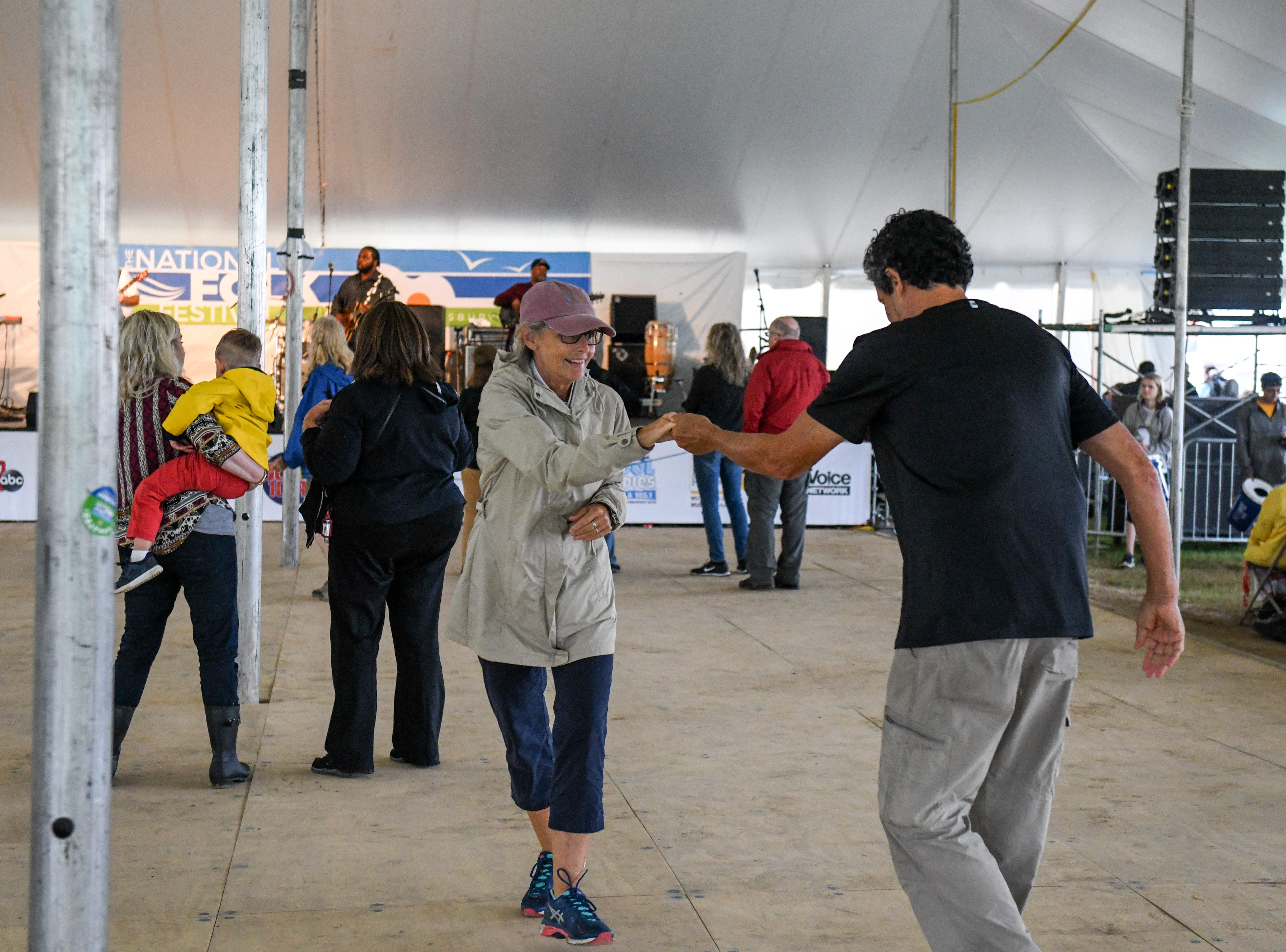 Festival attendees dance to Marquise Knox at the National Folk Fest in Salisbury on Sunday, Sept. 9.