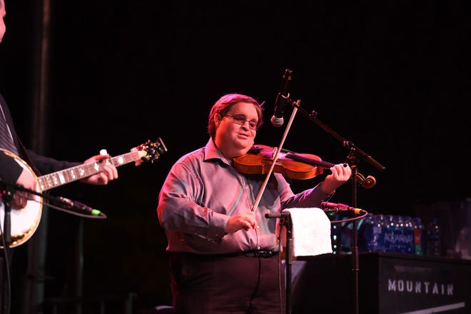 Michael Cleveland and the Flamekeeper performed during the 78th National Folk Festival on Saturday, Sept. 8, 2018.