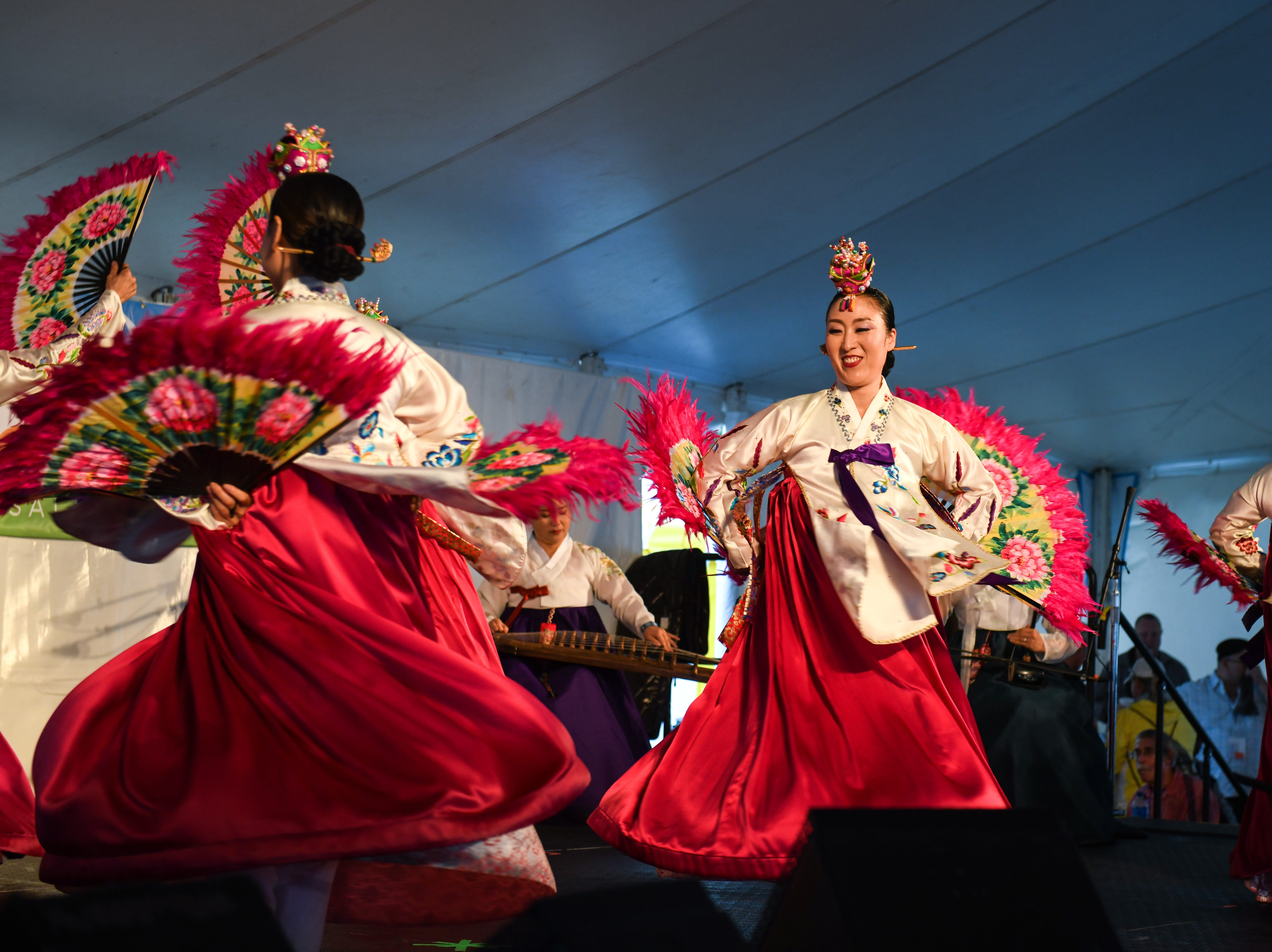 Sounds of Korea perform at the National Folk Festival in Salisbury on Sunday, Sept. 9.
