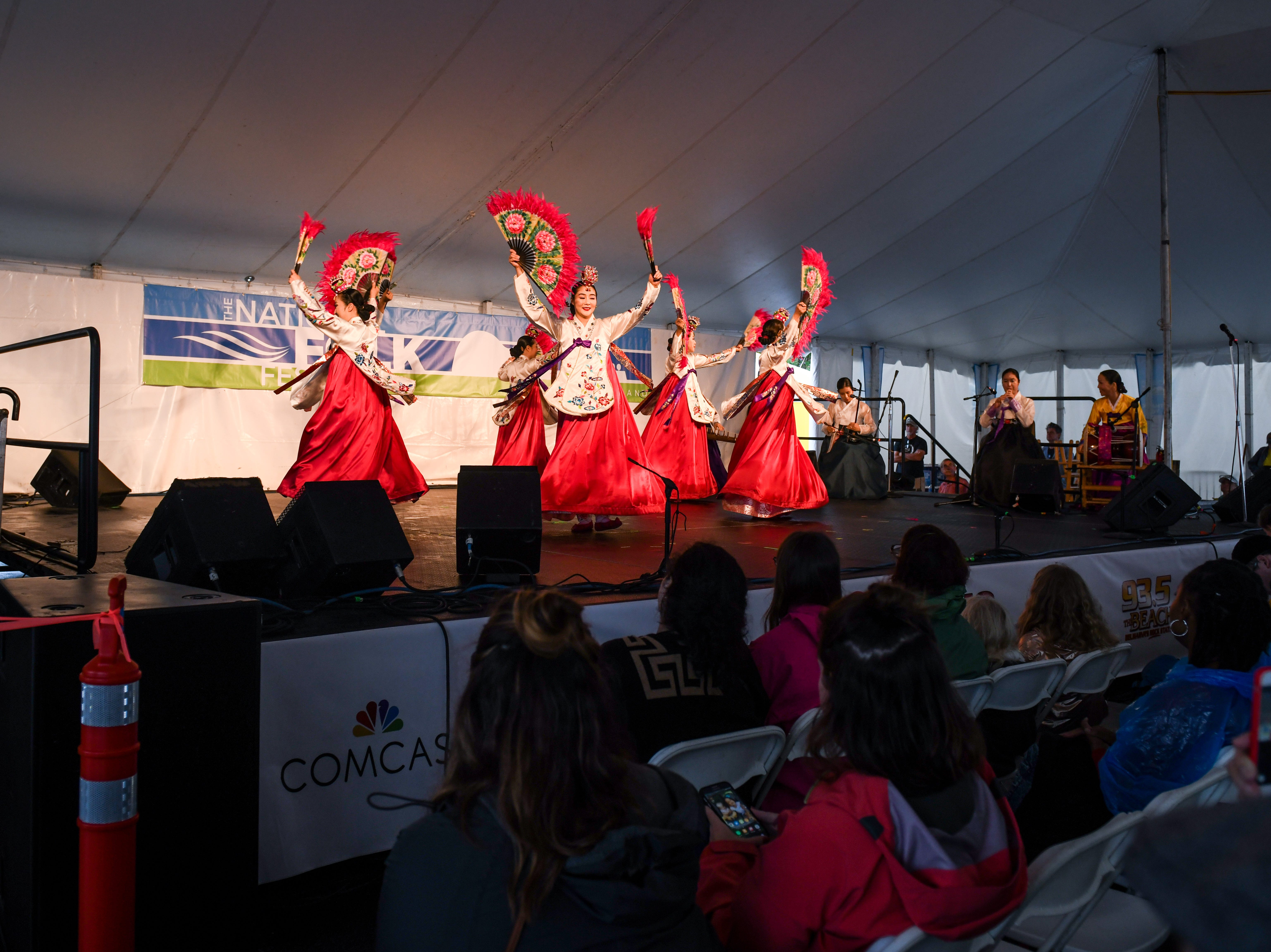 Sounds of Korea performs at the National Folk Fest in Salisbury on Sunday, Sept. 9.