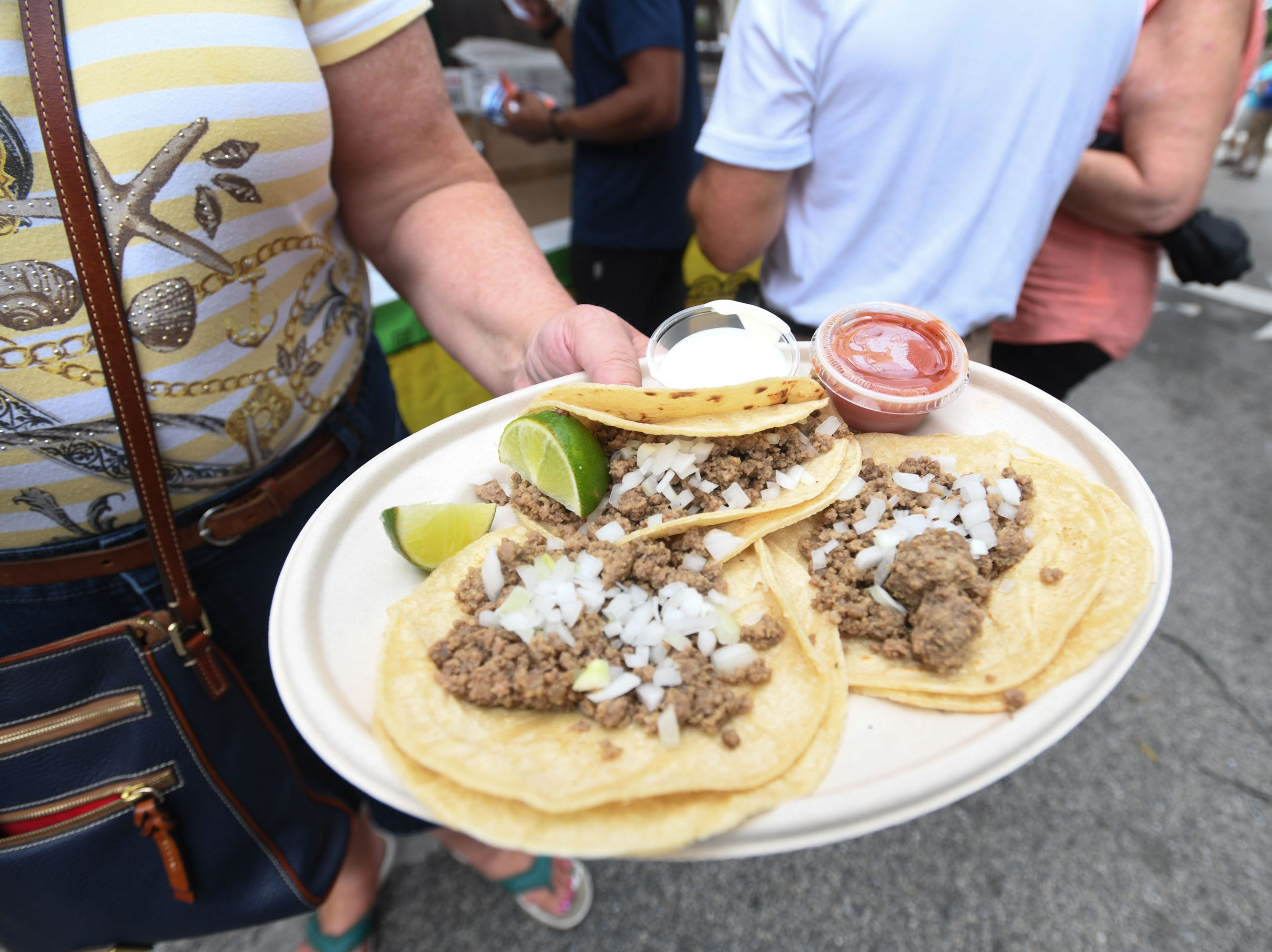 Mexican Taco's during the 78th National Folk Festival on Saturday, Sept. 8, 2018.