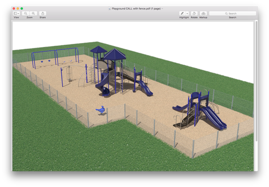 A depiction of the playground being built at the C.A.L.L. ballfield in Onancock, Virginia