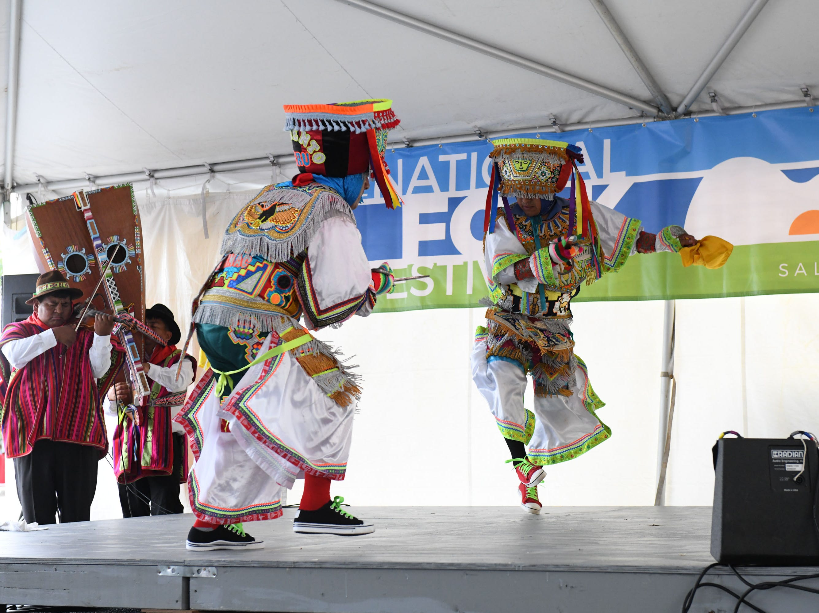 The Chankas of Peru Scissor Dancers performed at the 78th National Folk Festival on Saturday, Sept. 8, 2018.
