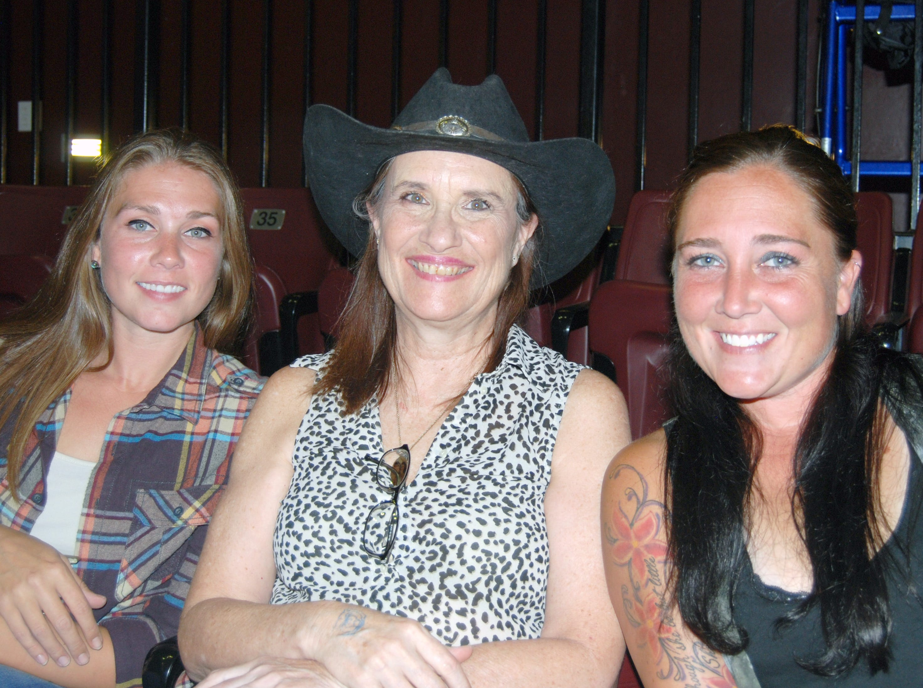 Kim Drew, Charlene Smith and Christie Drew