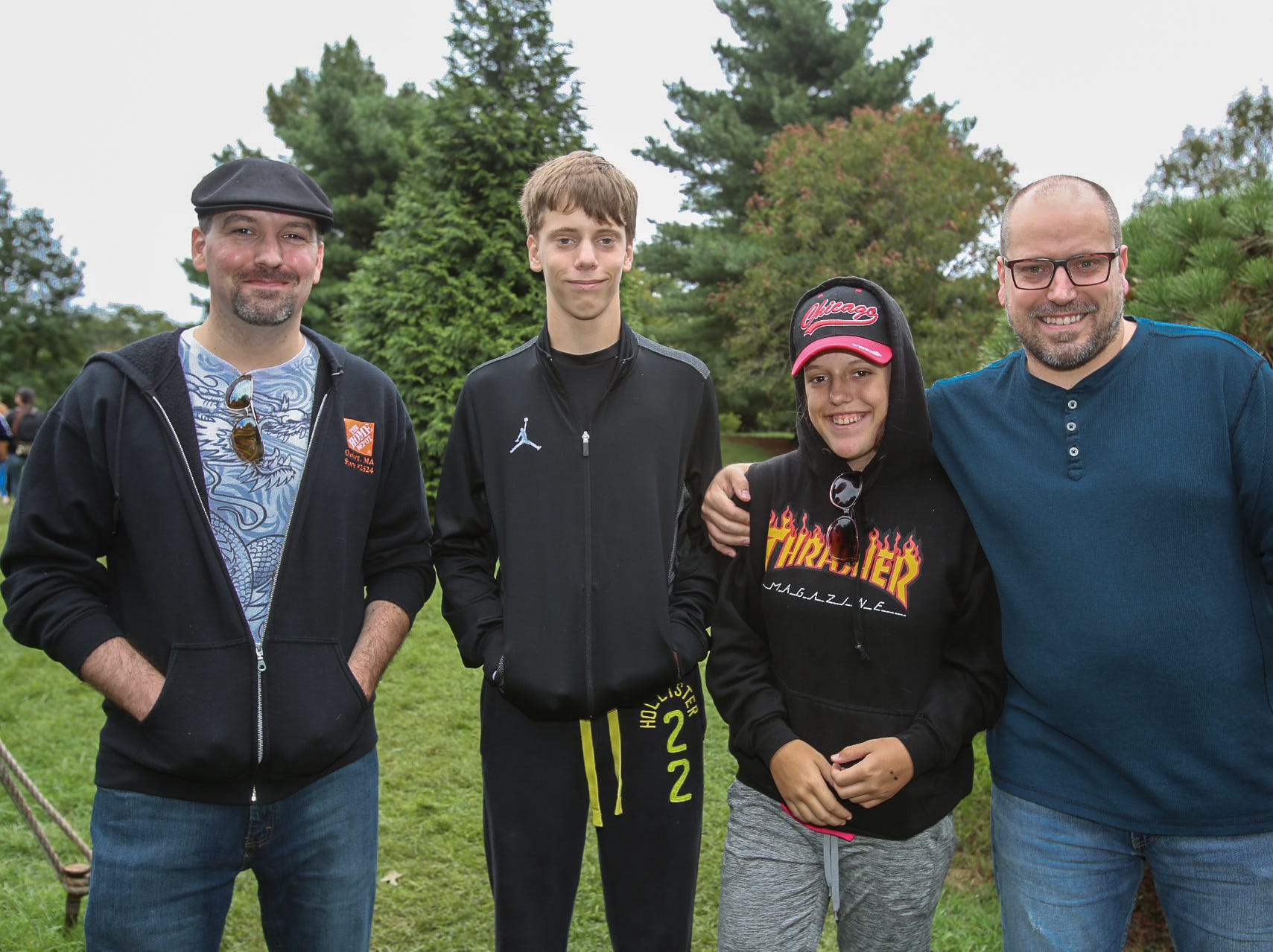 Daniel Dionne and Sam, Stella, and David Aye