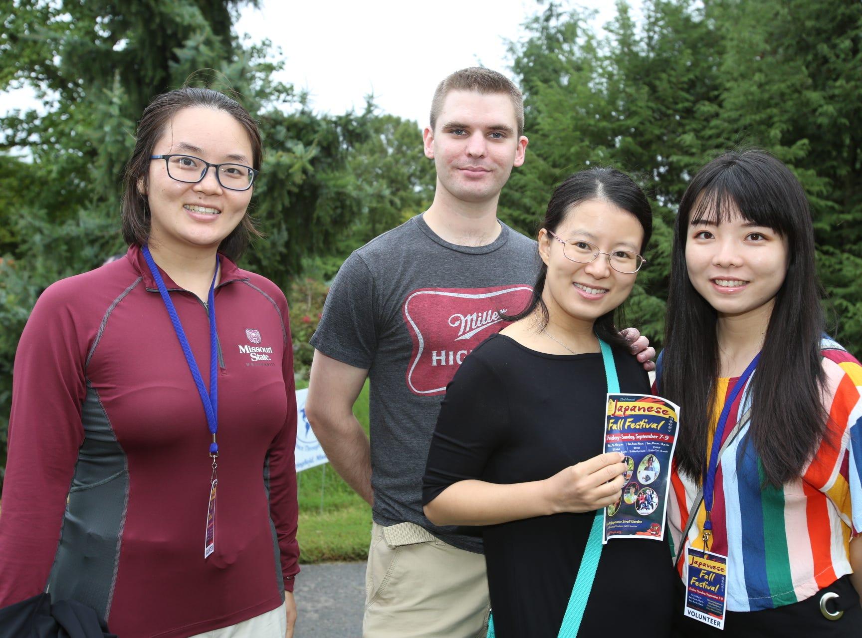 Jinzi Fan, David and Lydia Stufflebeam, and Wa Gao