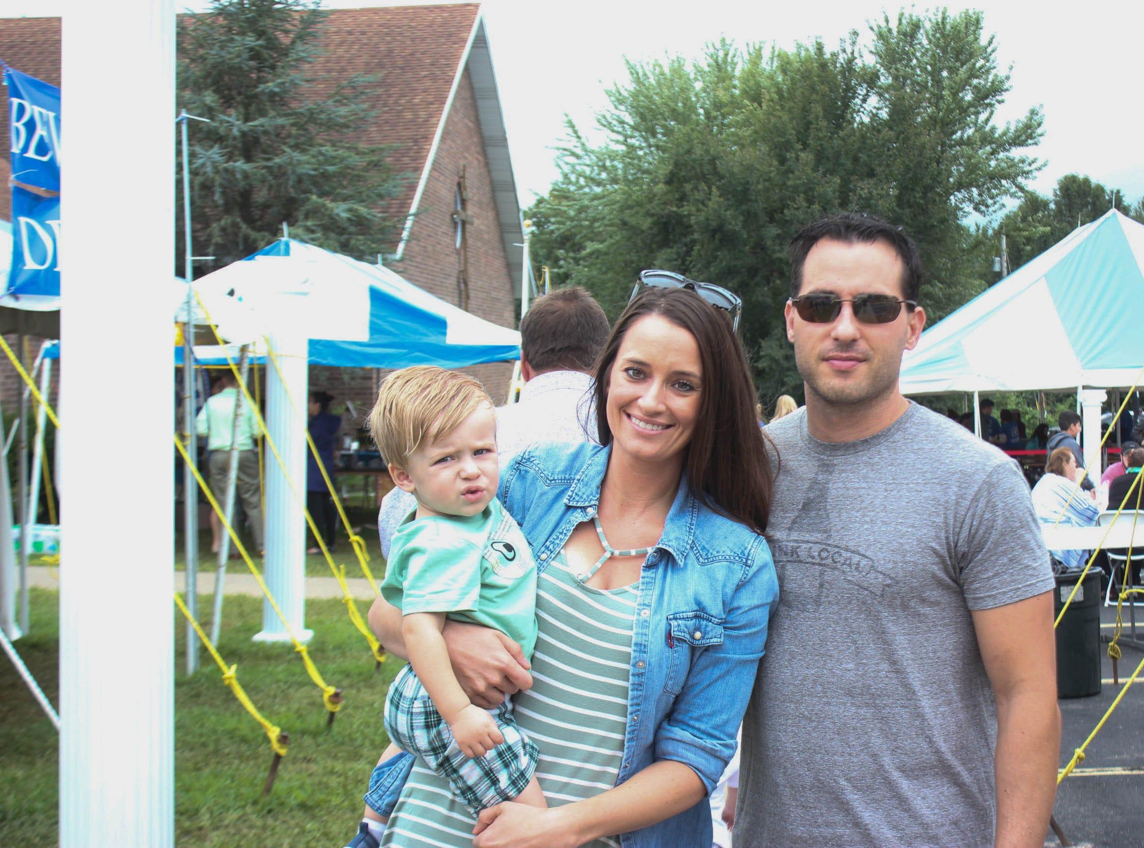 Elias Regier, Lydia Regier and Chris Regier