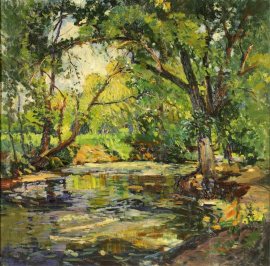 """Tom Barnett, """"A June Day,"""" 1924, oil on canvas. Museum purchase by public subscription."""