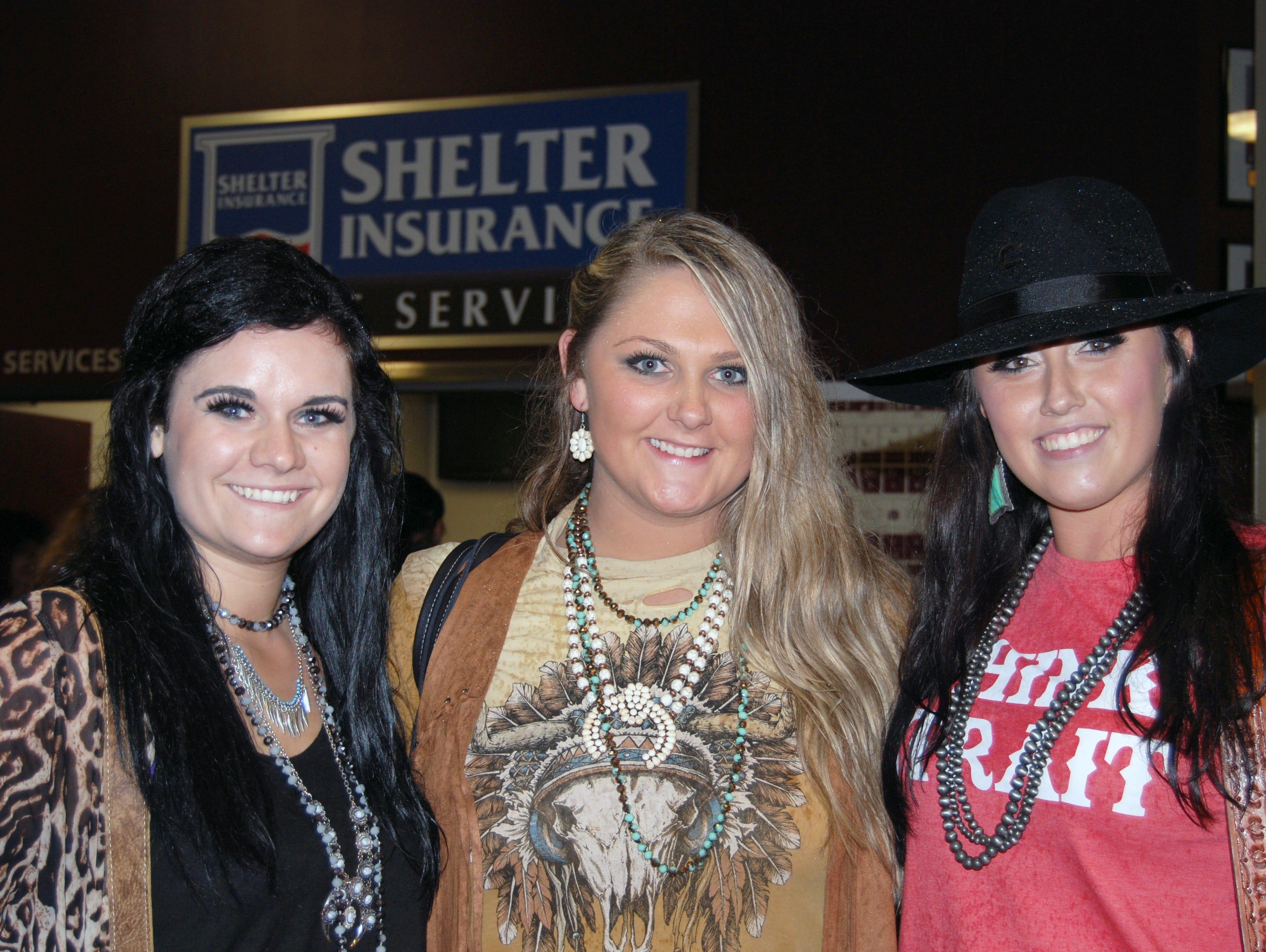 Likayla Stacy, Alexis Tamborring and Monica Gerken