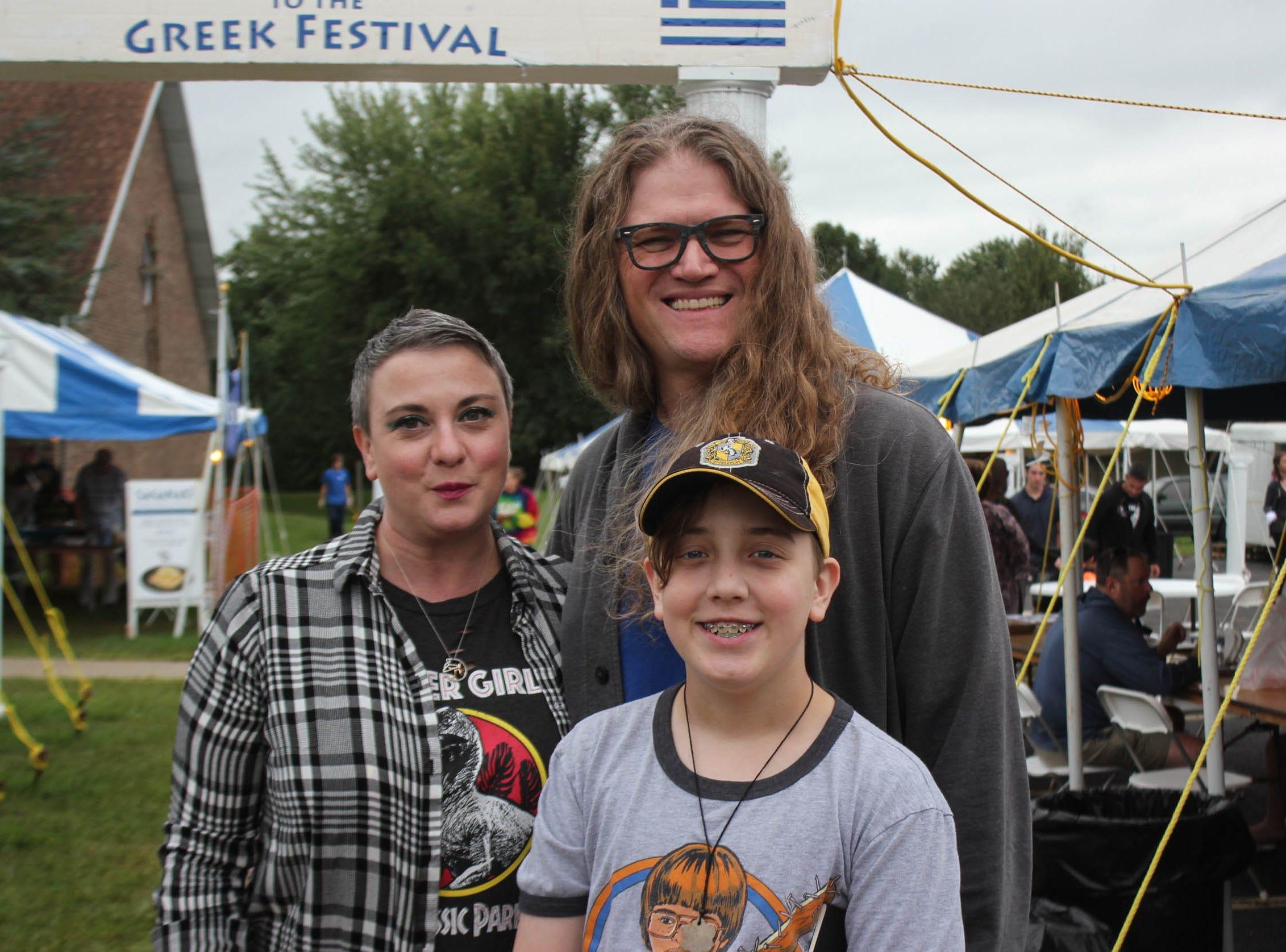 Kristi Merideth, Tyler Vanlaningham and Matt Garner