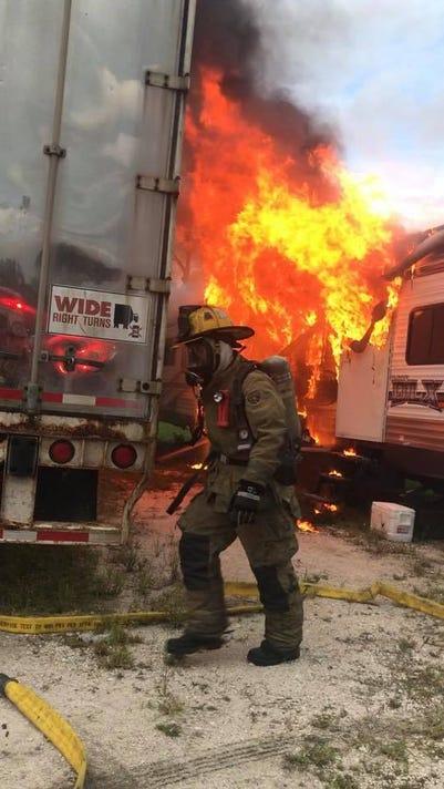 Fort Pierce Camper Fire 3
