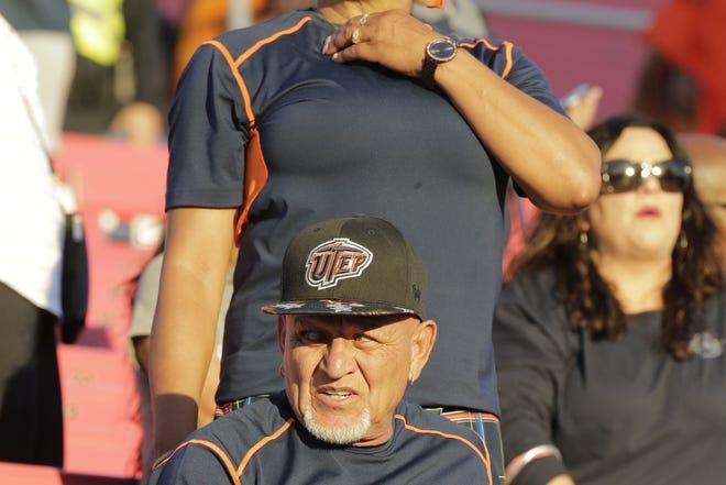 UTEP feels the heat against UNLV at Sam Boyd Stadium in Las Vegas on Saturday.