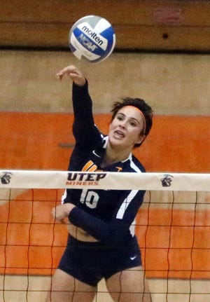 UTEP's Briana Arellano had 14 kills and 14 digs and three aces as the Miners battled back from a 2-0 deficit Sunday in Memorial Gym before falling 3-2 to UTSA.