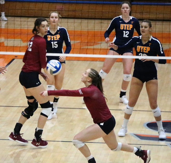 The UTEP Miners lost to rival NMSU in three sets Sunday in Memorial Gym.