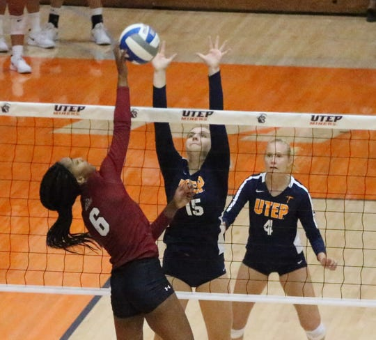 Kristen Fritsche, 15, will help lead UTEP against UTSA in a Conference USA women's volleyball match Sunday at 12 noon in Memorial Gym.