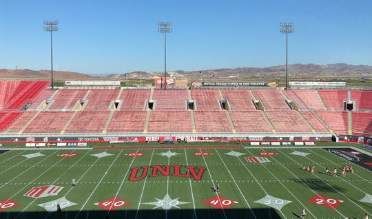 About an hour before kickoff between the UTEP Miners and the UNLV Rebels, the stands at Sam Boyd Stadium were fairly empty. The 107-degree temperature might have had something to do with it.