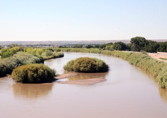 The tranquil Rio Grande River viewed from the overpass at Artcraft Road in El Paso's Upper Valley on Sunday.