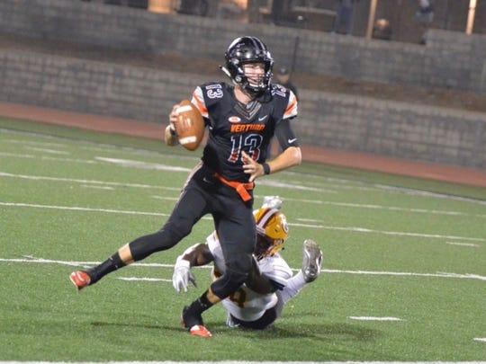 Ventura College quarterback Jay Vanderjagt missed last week's game.