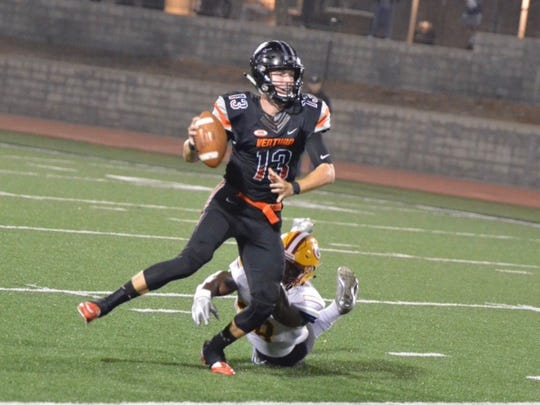 Ventura College quarterback Jay Vanderjagt missed last week's game.