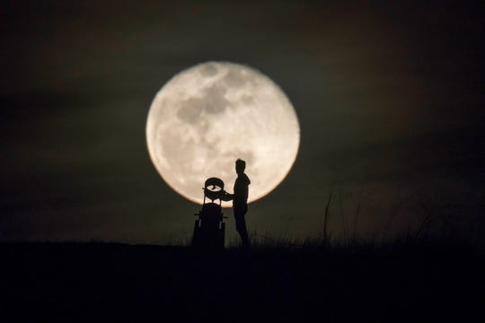 """""""A New View Of The Moon"""" will be shown Friday during """"Under the Open Sky"""" at the Ventura River Steelhead Preserve."""