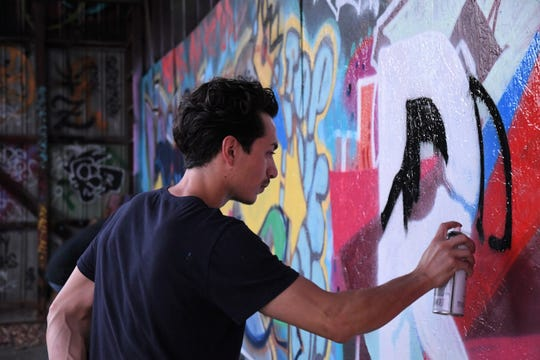 The Old Lumberyard is a canvas for muralists and street artists