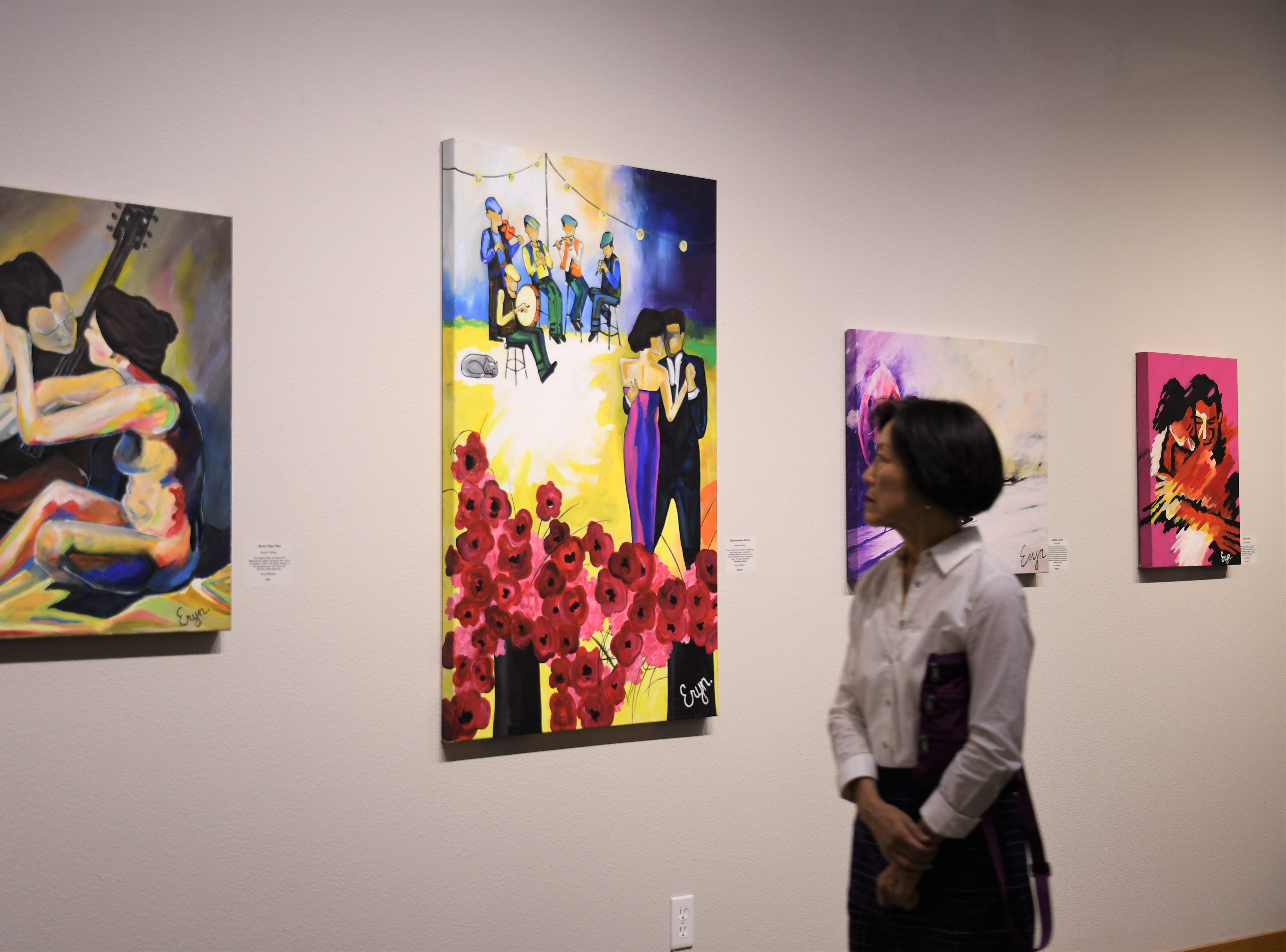 Mt. Whitney-graduate Eryn Williams' paintings are showing at Arts Visalia through Sept. 28
