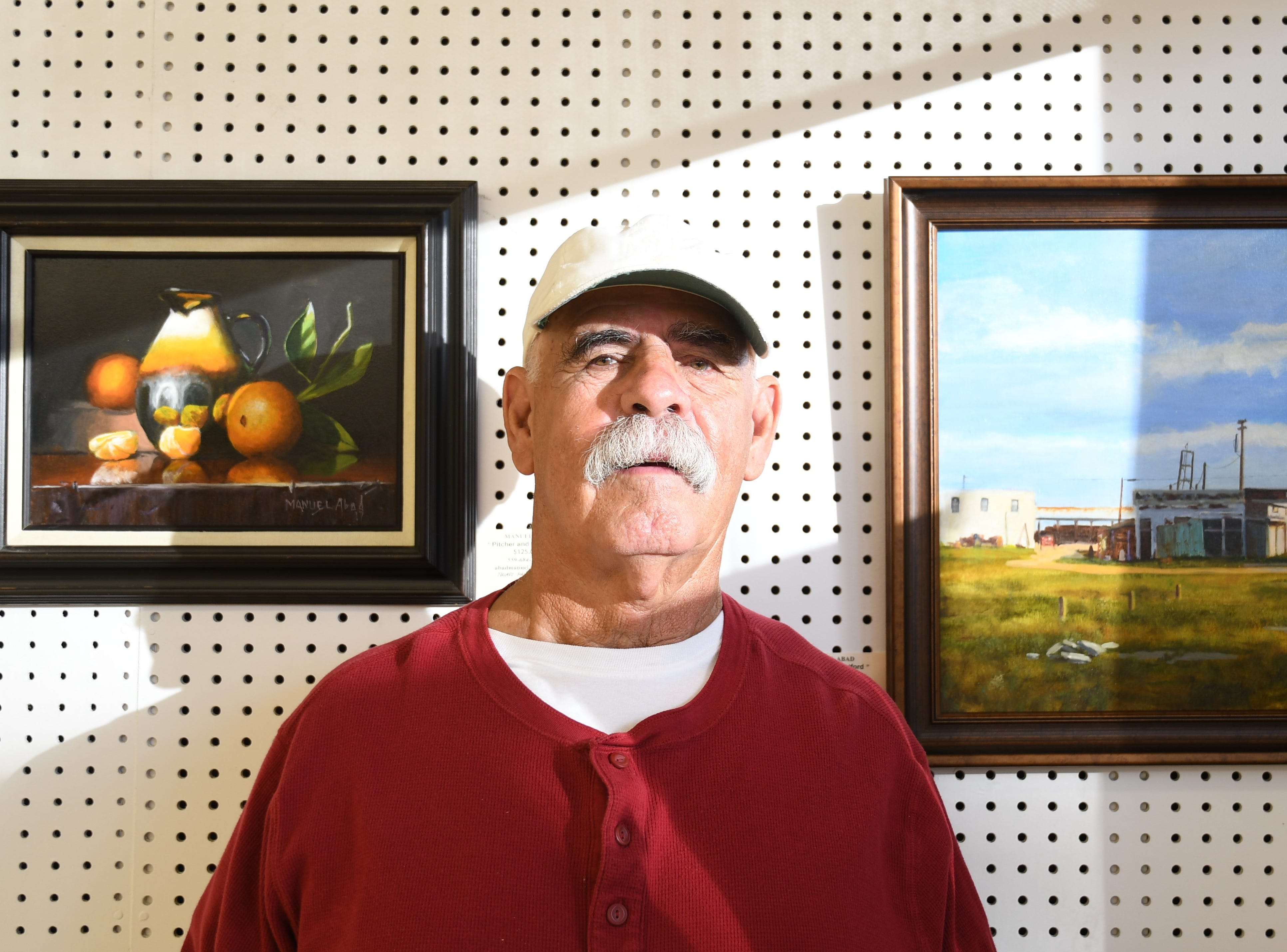 Manuel Abad is a member of the Palette Club, a painters collective showing work at Visalia Arts Consortium this month