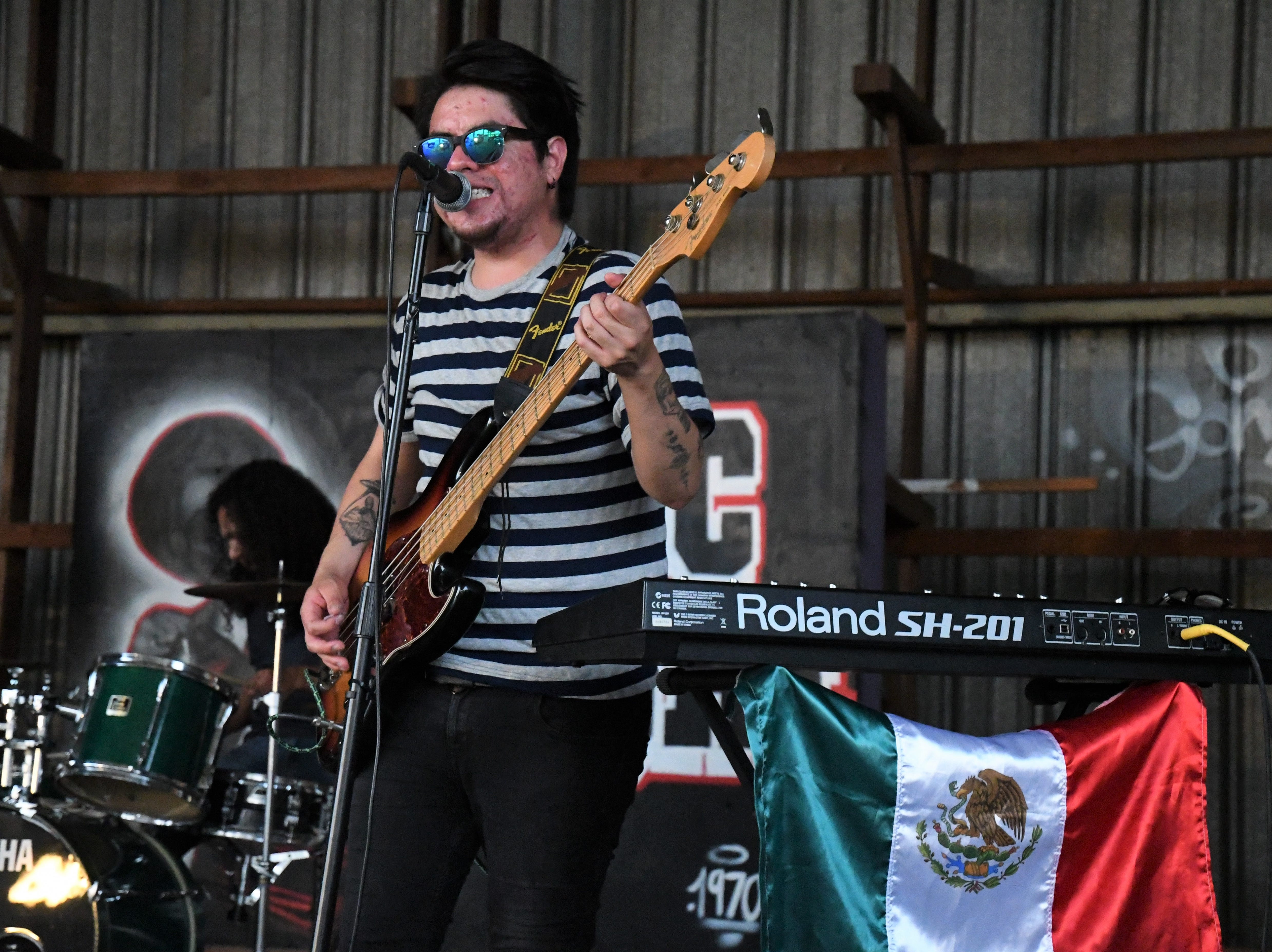 Los Discorde from Mexico City shredding at the Old Lumber Yard