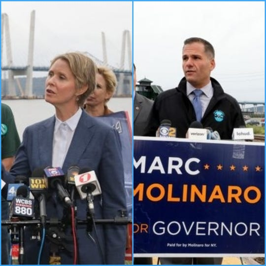 Cynthia Nixon and Marc Molinaro.