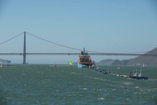 The Ocean Cleanup is a passive system that consists of a 2,000-foot floating boom made up of plastic piping four feet in diameter.