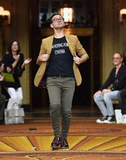 Designer Christian Siriano walks the runway at his spring/summer 2019 runway show at Gotham Hall on Sept. 8 in New York.
