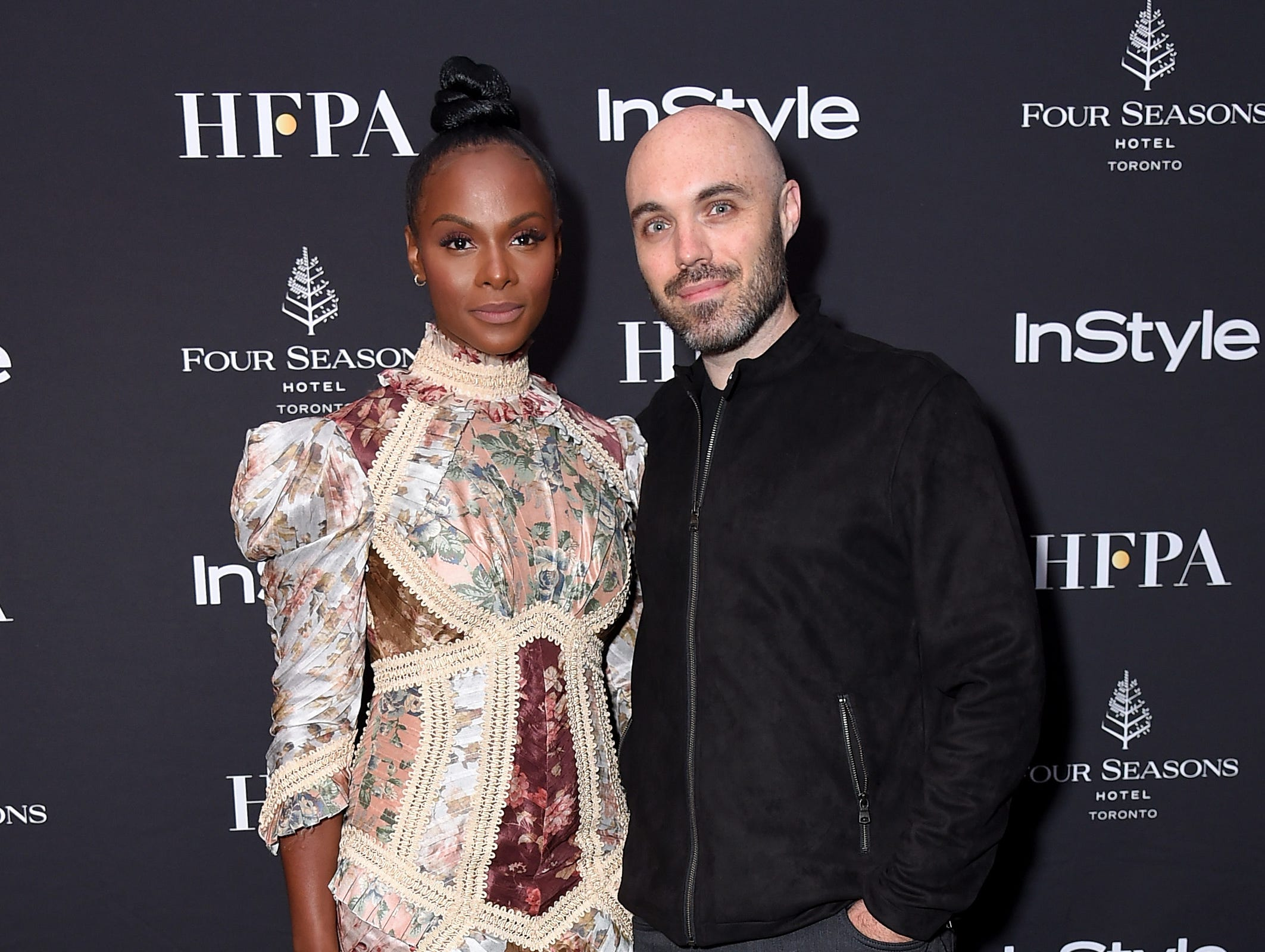 TORONTO, ON - SEPTEMBER 08:  Tika Sumpter (L) and David Lowery attend The Hollywood Foreign Press Association and InStyle Party during 2018 Toronto International Film Festival at Four Seasons Hotel on September 8, 2018 in Toronto, Canada.  (Photo by Michael Loccisano/Getty Images,) ORG XMIT: 775218497 ORIG FILE ID: 1029587588